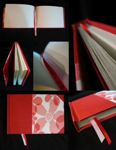 libreta apaisada roja copia
