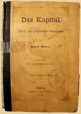 karl-marx-das-kapital-second edition-1872-german-kritik-der-politischen-oekonomie-for-sale-beige